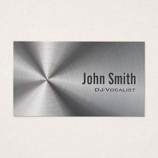 Cartão De Visitas Metal de aço inoxidável legal do DJ do partido