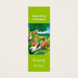 Cartão De Visitas Mini Adam & véspera no marcador do paraíso