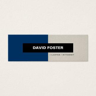 Cartão De Visitas Mini Advogado/advogado - na moda elegante simples
