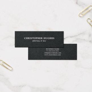 Cartão De Visitas Mini Advogado branco preto elegante simples minimalista