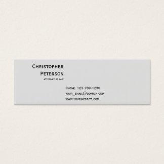 Cartão De Visitas Mini Advogado elegante minimalista no escritório de