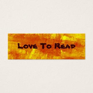 Cartão De Visitas Mini Amor para ler o marcador abstrato