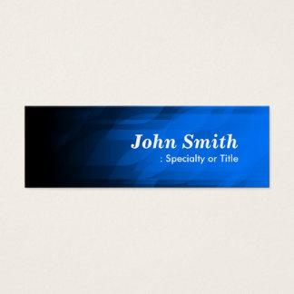 Cartão De Visitas Mini Azul escuro simples e moderno