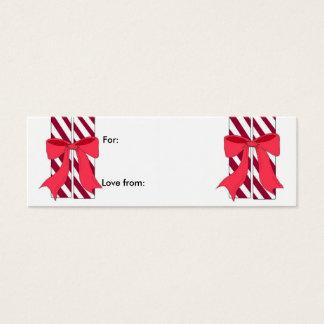 Cartão De Visitas Mini Bastão de doces - Tag do presente