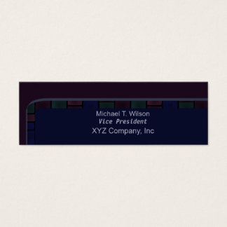 Cartão De Visitas Mini Beira azul escuro do azulejo da ameixa