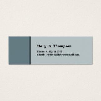 Cartão De Visitas Mini Beira lateral cinzenta