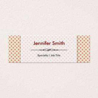 Cartão De Visitas Mini Bolinhas bonitos simples modernas