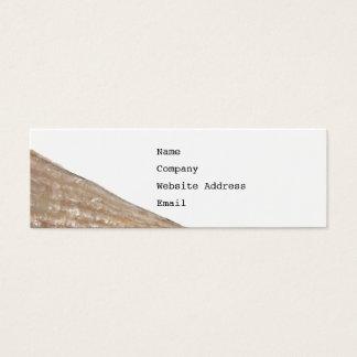 Cartão De Visitas Mini Borda do Seashell. Feche acima da imagem