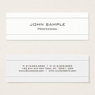 Cartão De Visitas Mini Branco moderno profissional e cinzento