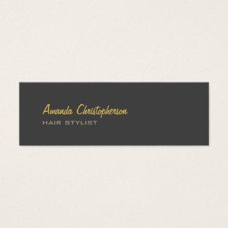 Cartão De Visitas Mini Cabeleireiro cinzento na moda à moda magro