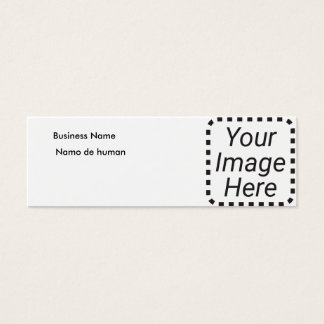 Cartão De Visitas Mini Campo dois + Teste secundário secundário da imagem