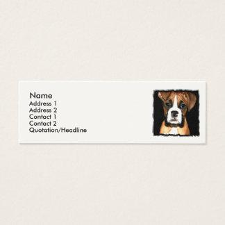 Cartão De Visitas Mini Cão de filhote de cachorro do pugilista