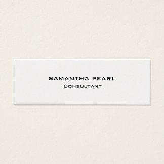 Cartão De Visitas Mini Chique minimalista moderno à moda da pérola