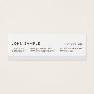Cartão De Visitas Mini Cinza elegante profissional moderno simples