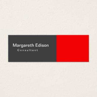 Cartão De Visitas Mini Claro cinzento vermelho liso magro
