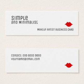 Cartão De Visitas Mini composição elegante simples e minimalista