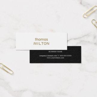 Cartão De Visitas Mini Consultante à moda minimalista elegante