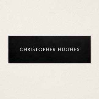Cartão De Visitas Mini Consultante branco preto simples minimalista