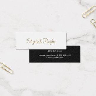 Cartão De Visitas Mini Consultante minimalista elegante chique