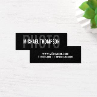 Cartão De Visitas Mini Corajoso moderno profissional do fotógrafo
