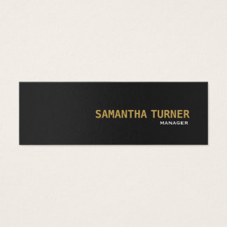 Cartão De Visitas Mini Costume profissional Textured do ouro preto