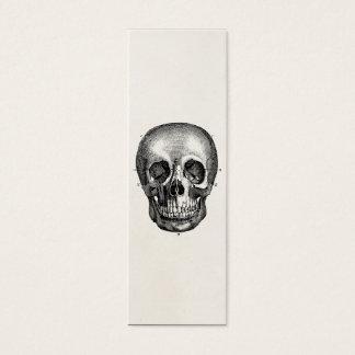 Cartão De Visitas Mini Crânios retros do crânio dos 1800s do vintage de