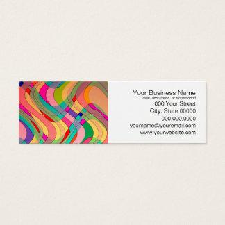 Cartão De Visitas Mini Design abstrato moderno colorido