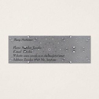 Cartão De Visitas Mini Design cinzento subtil