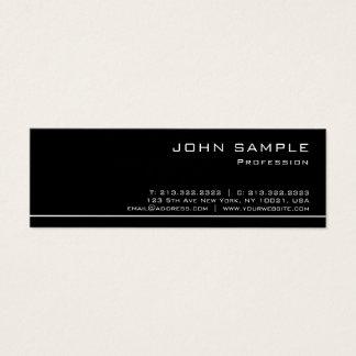 Cartão De Visitas Mini Do branco brilho preto moderno profissional na