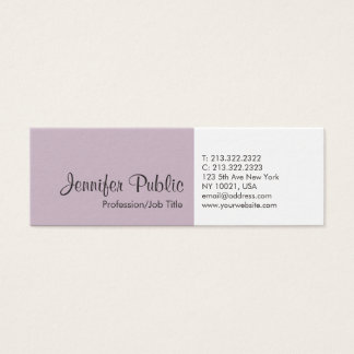 Cartão De Visitas Mini Elegantes lisos profissionais modernos criam seus