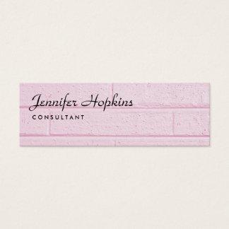 Cartão De Visitas Mini Feminino magro moderno da parede cor-de-rosa lisa