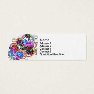 Cartão De Visitas Mini Formas e círculos coloridos de Paisley