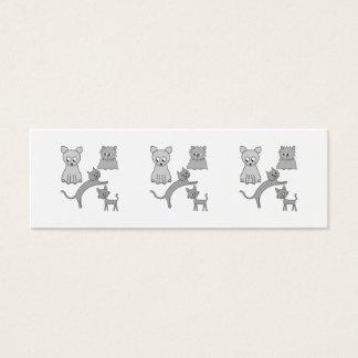 Cartão De Visitas Mini Gatos cinzentos