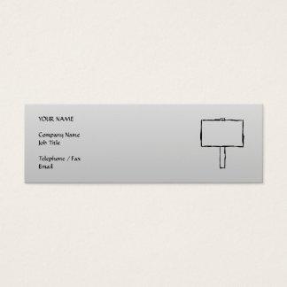 Cartão De Visitas Mini Imagem da observação do letreiro. Preto no cinza
