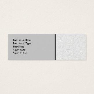 Cartão De Visitas Mini Imagem do couro branco