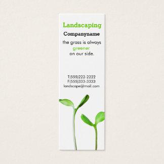Cartão De Visitas Mini Lawncare que ajardina sprouts verdes da lei