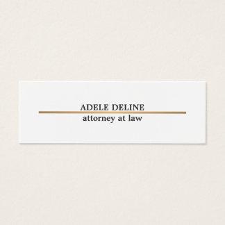 Cartão De Visitas Mini Linha de cobre elegante minimalista advogado