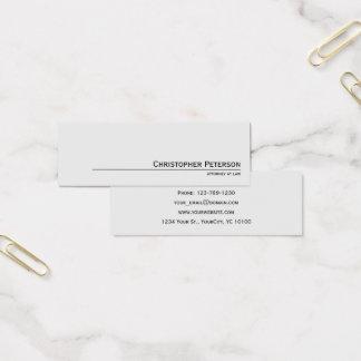 Cartão De Visitas Mini Linha elegante minimalista advogado no escritório