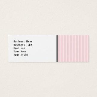 Cartão De Visitas Mini Listras dos doces do rosa Pastel