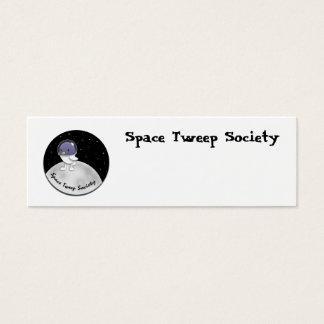 Cartão De Visitas Mini Logotipo de Tweep do espaço customizável