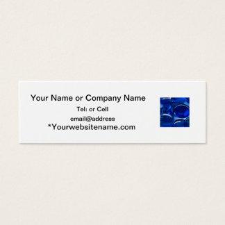 Cartão De Visitas Mini luz de vidro azul da colagem dos seixos e tons