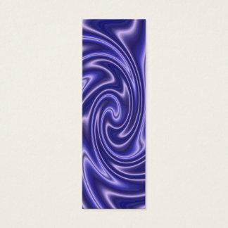 Cartão De Visitas Mini marcador azul do cetim