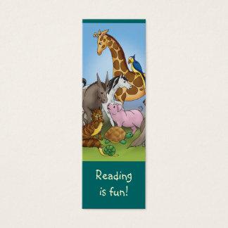 Cartão De Visitas Mini Marcador bonito dos animais para amantes de livros