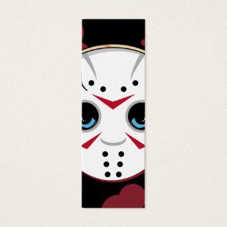 Cartão De Visitas Mini Marcador do assassino da máscara do hóquei