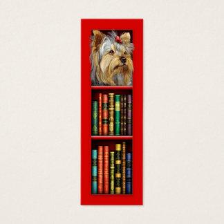 Cartão De Visitas Mini Marcador do vermelho do yorkshire terrier