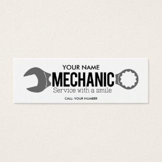Cartão De Visitas Mini Mecânico - serviço com um sorriso