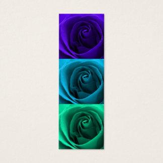 Cartão De Visitas Mini Mini marcador dos rosas coloridos
