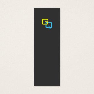 """Cartão De Visitas Mini Monograma 3"""" do marcador do ~ do monograma de DIY"""