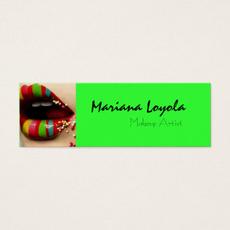 Cartão De Visitas Mini multicolor makeup