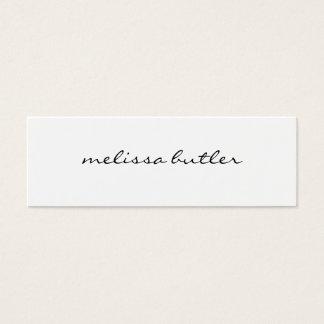 Cartão De Visitas Mini Na moda moderno minimalista